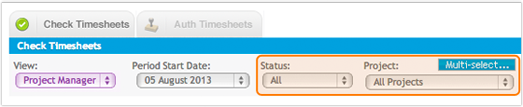 Check Timesheets Screen Enhancements
